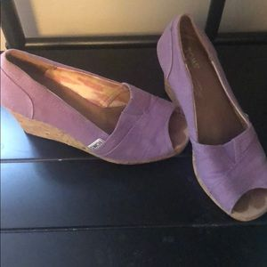 Toms lilac wedges